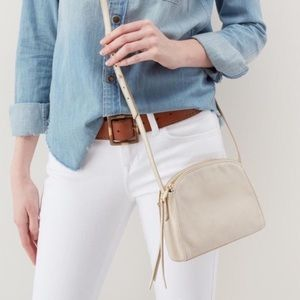 HOBO Evella Crossbody Cream Colored Leather & Gold